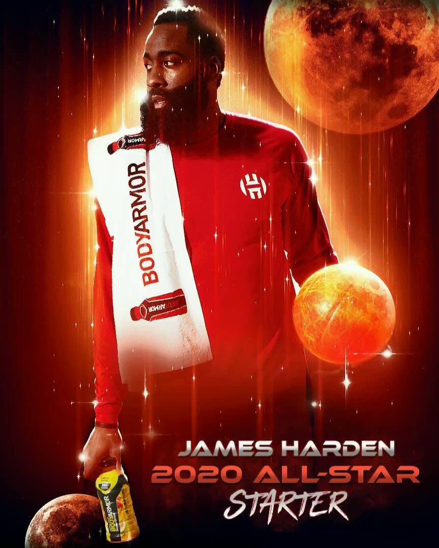 ALL ⭐️ STARTER 💯 @JHarden13 #TeamBODYARMOR