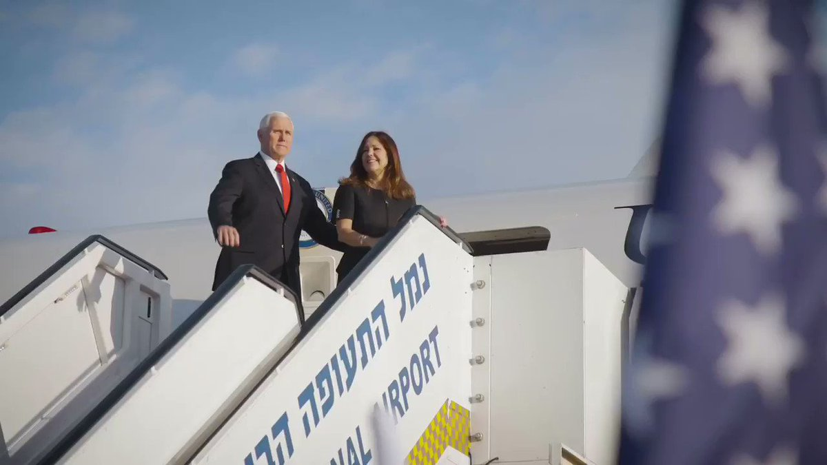 Wheels up to Italy after a wonderful and inspiring visit to Israel with @SecondLady!