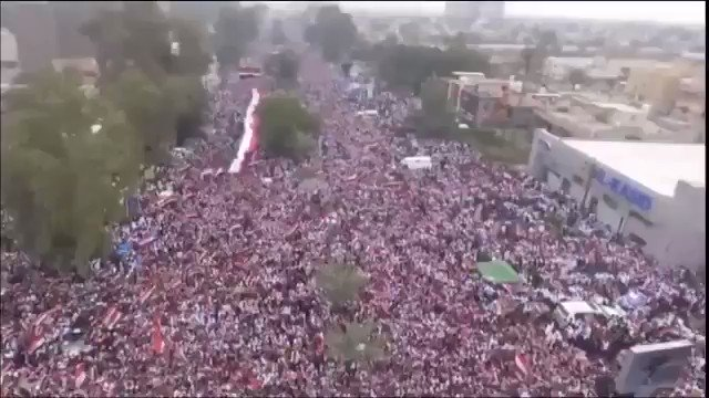 More than 1 million Iraqis out in the streets today telling America to get the f*** out of Iraq. Absolutely amazing.