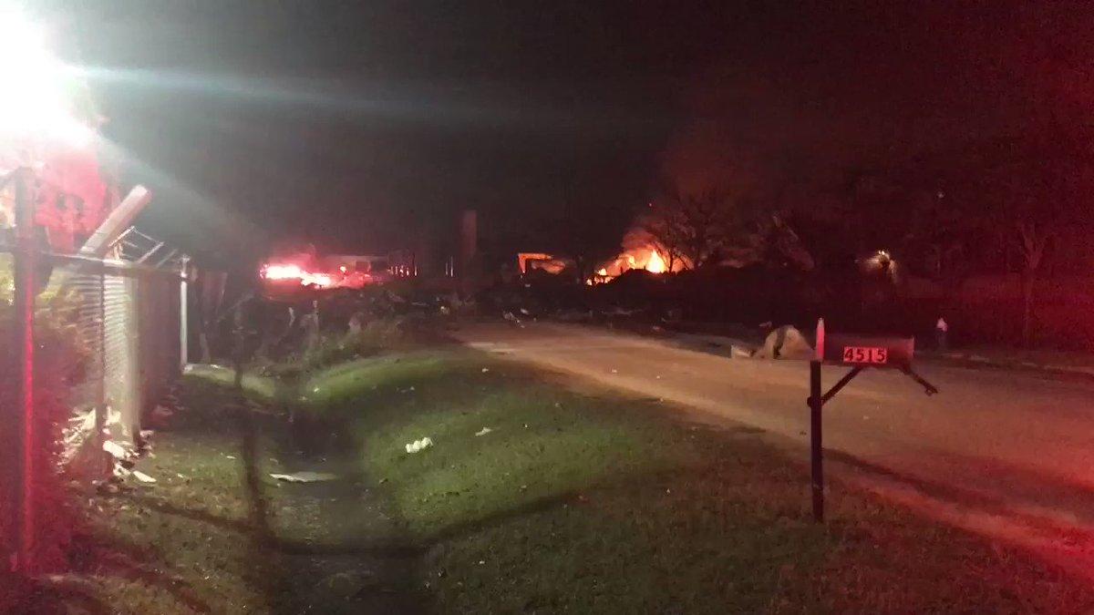 #Houston #Explosion RT @JeffEhlingABC13: Explosion at Watson Grinding on Gessner #abc13eyewitness