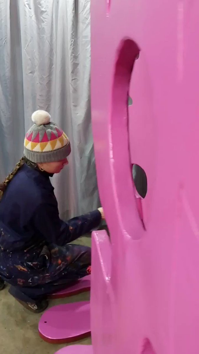 Finishing touches being added to our exciting new People Play sculptures by artist Alice Irwin. Coming to The Piece Hall 28 February – 1 June. Read all about it bit.ly/2GjP0Jk