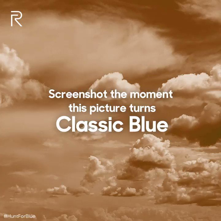 #Contest: This picture of the soothing dusk sky seems to have malfunctioned. Capture its original colour. Reply with a screenshot of the moment this picture turns Classic Blue using #HuntForBlue for a chance to win a 10000mAh realme Power Bank & a #realmeBudsAir Iconic Cover.