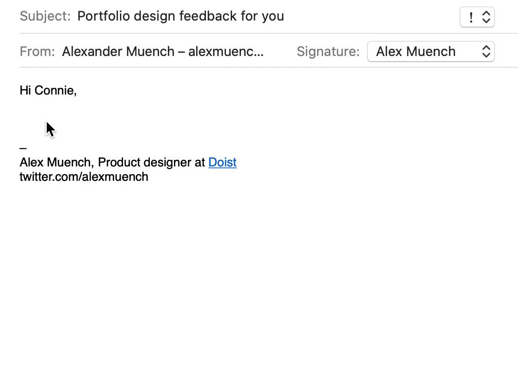 Using text replacement to quickly compose frequent email replies is a life saver omg.