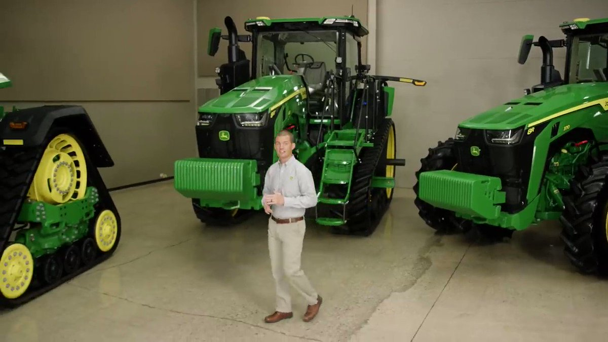 For model year 2020, #JohnDeere announced that it will introduce a new 8 Family #Tractor lineup, including 8R wheel tractors, 8RT two-track tractors, and the new fixed-frame four-track 8RX.Learn more: http://ow.ly/thfh50xU5Jv #Agriculture #Tractors
