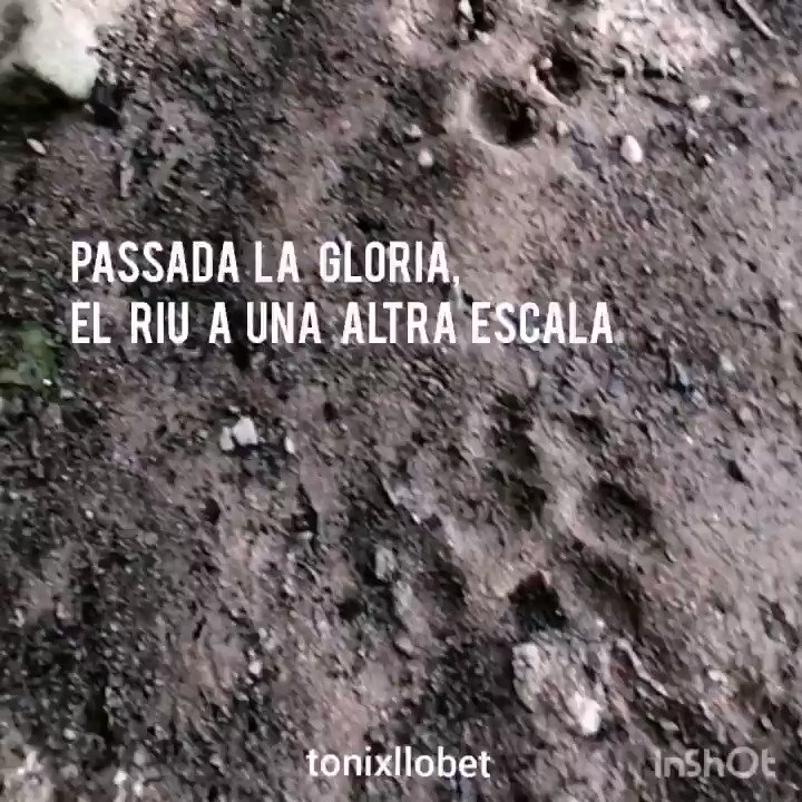Image for the Tweet beginning: Passada la #gloriastorm, el Fluvià,