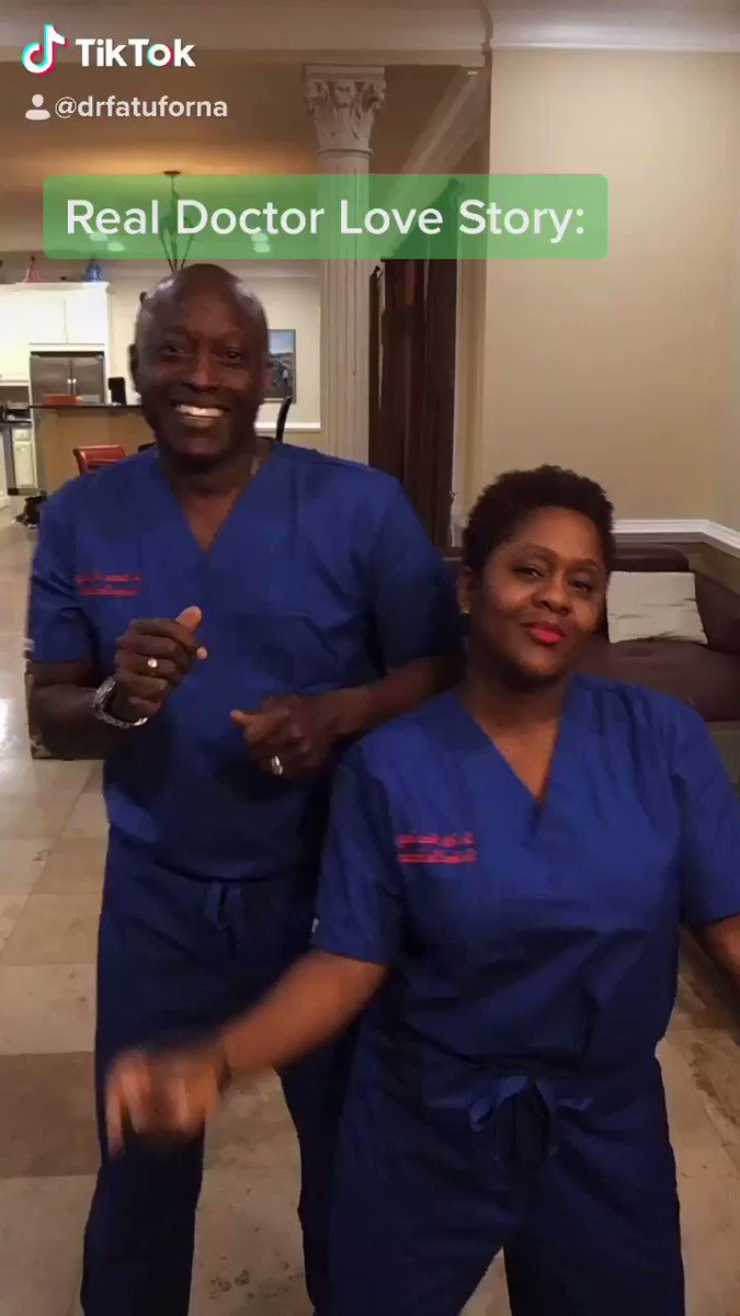 I roped my husband into TikTok! Here's our Real Doctor Love Story! 💃🏾🕺🏾💕