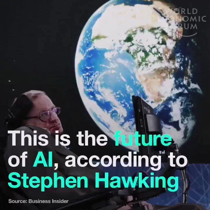 The future of #AI, according to #StephenHawking.  @wef  #MachineLearning #4IR #ArtificialIntelligence  @mvollmer1 @Fabriziobustama @ipfconline1 @HaroldSinnott @Paula_Piccard @SpirosMargaris @RichSimmondsZA @sebbourguignon @labordeolivier @kalydeoo @Ym78200 @Nicochan33 @chboursin