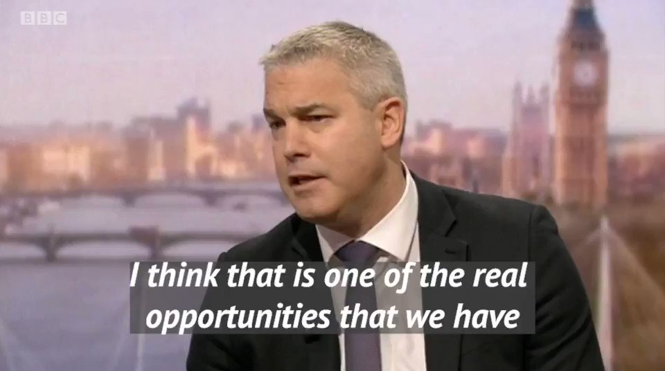 This time next week we'll have delivered on the people's instructions and got Brexit done.   Watch @SteveBarclay on this morning's #BBC1 @AndrewMarr9 Show looking forward to our future as an independent country outside the EU ⬇️