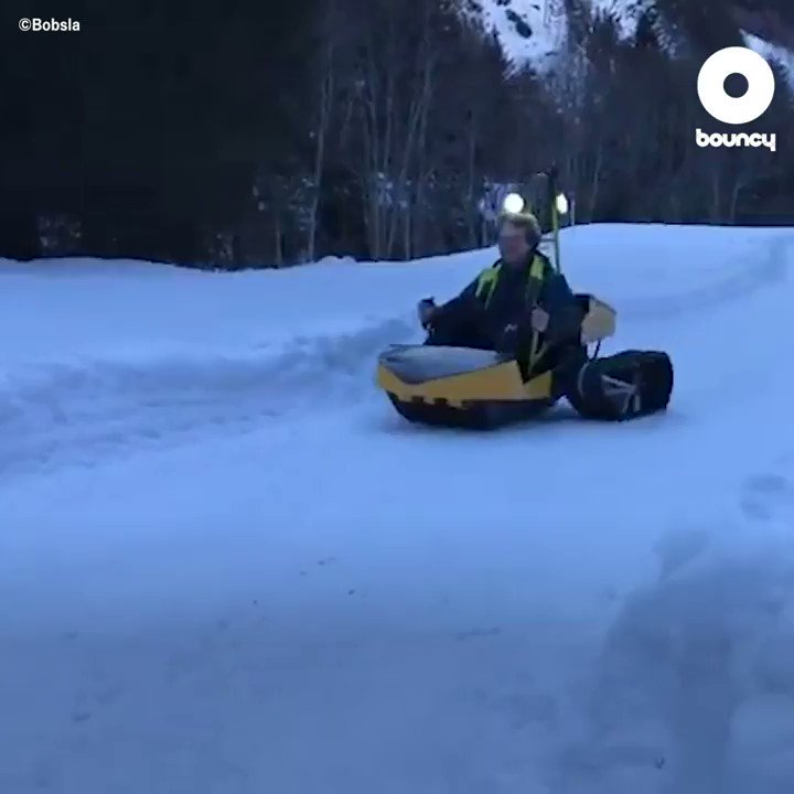 雪を激しく駆け抜けられる、雪上のゴーカート ⛄️ by Bobsla詳しくはこちら👉#ゴーカート #雪遊び #雪