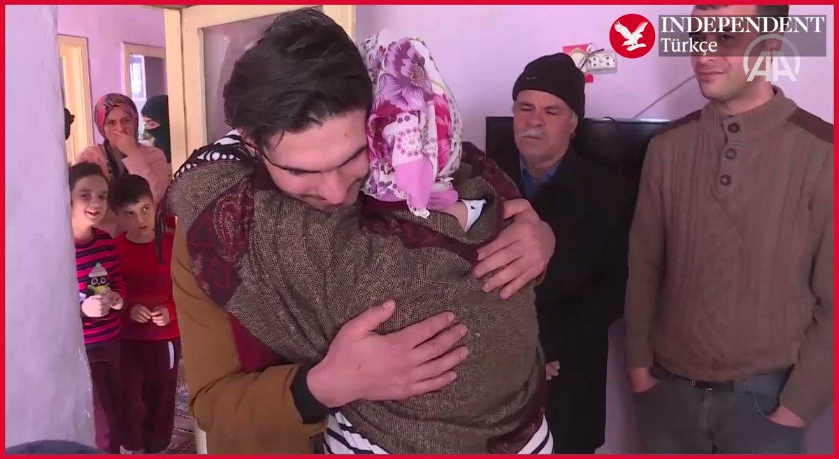 Elazığlı depremzede, kendisini enkazdan kurtaran Suriyeli Mahmud ile buluştu