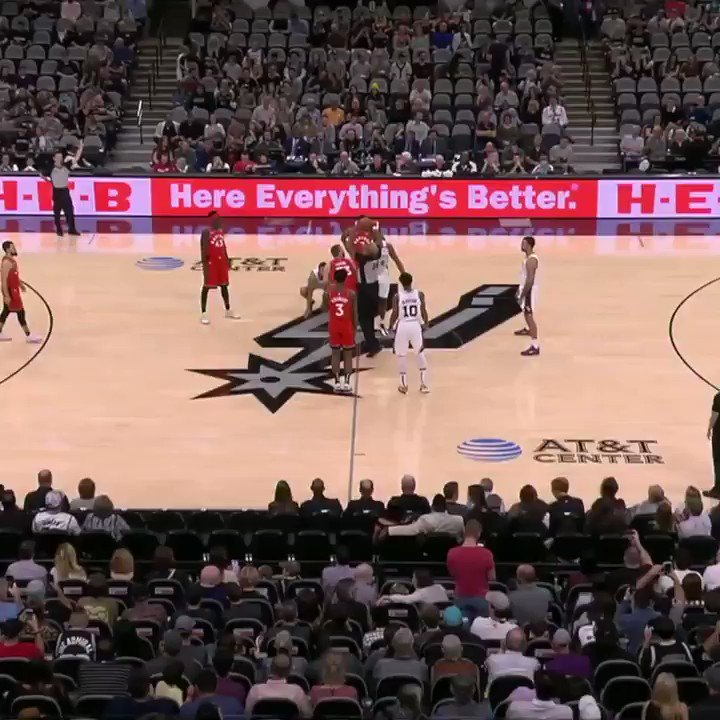 The Raptors and Spurs both took 24-second violations at the start of their game in honor of No. 24, Kobe Bryant.  The crowd gave a standing ovation along with Kobe chants.