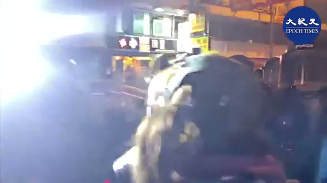 A NBC journalist accused the police of touching the chest ,she asked the police to number. Police responded with bright light, bumped and sprayed reporter's face with pepper spray #hkpolicebrutality  #HKPoliceState  #HKPoliceTerrorists
