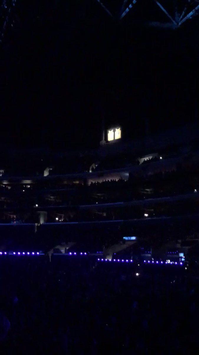 #Kobe jerseys lit up in Staples Center above #Grammy's