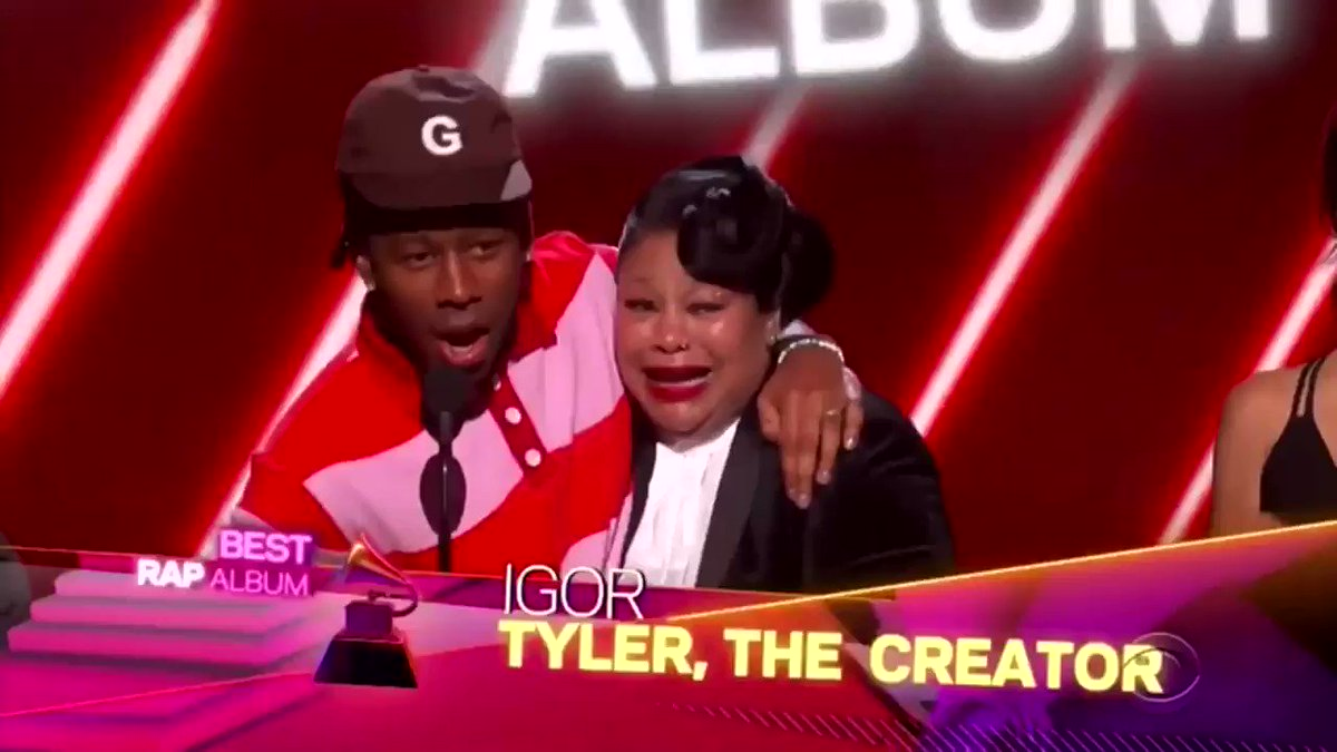 Tyler gave a 🐐 speech 🚫🧢 #Grammys
