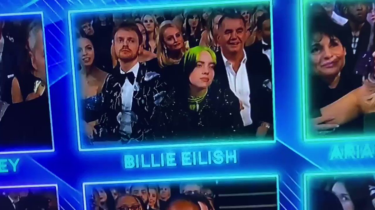 """""""Please don't be me. Please.""""   Billie Eilish being genuinely disgusted by her own success is one of the most hilarious things I've ever seen at a major awards show. #Grammys"""