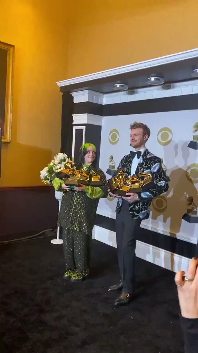 Replying to @eilishupdates: Billie and Finneas with their total of 10 #GRAMMYs