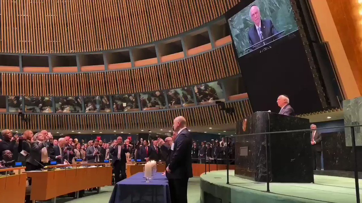 We stand united against hate! The important voices of survivors of #Holocaust are powerful as they speak up @UN on #HMD2020. The world gathered today for #HolocaustRememberence. And we join the pledge: #NeverAgain