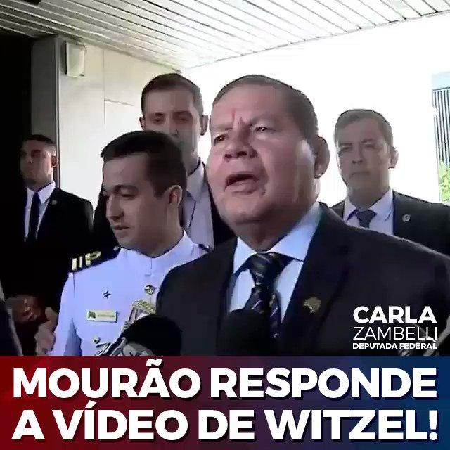 O Governador @wilsonwitzel resolver gravar e publicar a conversa que teve ao telefone com o @GeneralMourao.  Vejam o que o vice-presidente tem a dizer sobre o ocorrido.