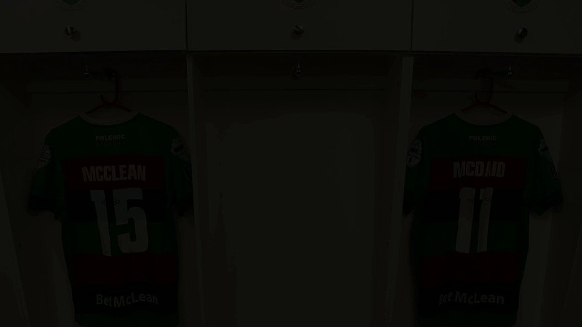 Kit & Equipment Manager Sean McManus hangs a freshly printed shirt in the Ovals dressing room... But who does it belong to? 👀✍️ Find out very soon! ⏳ #COYG #TimeToClimb ❤️💚🖤