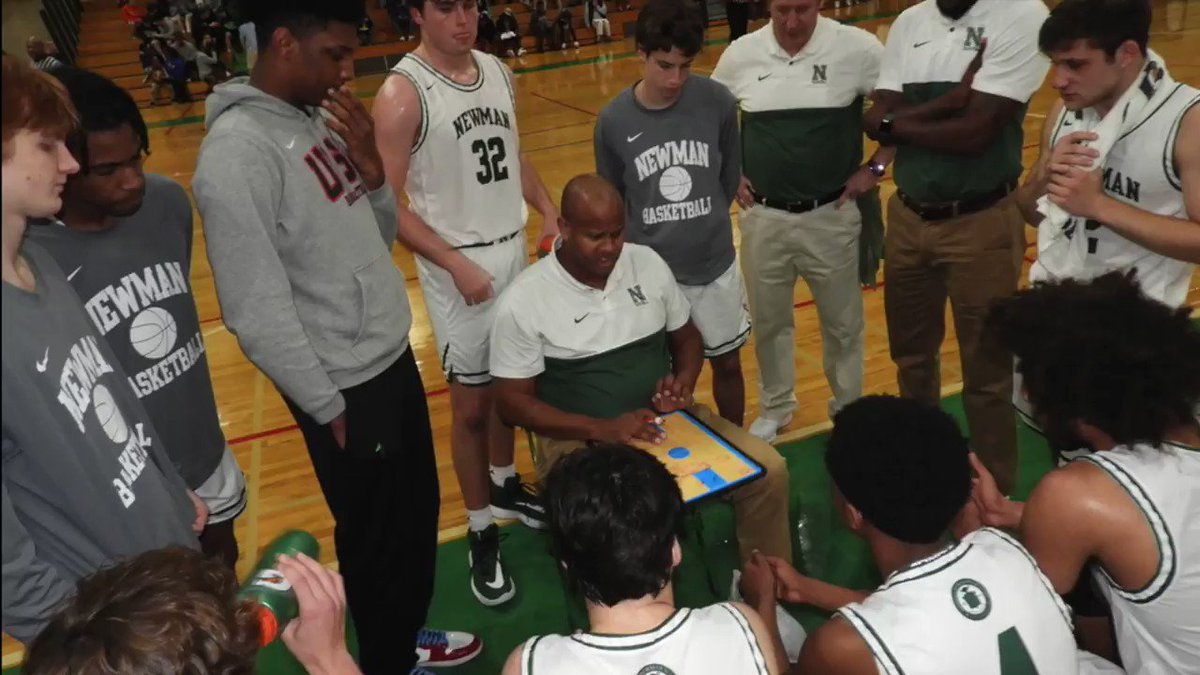 Image for the Tweet beginning: Newman coach Randy Livingston (@RealCoachLiv)