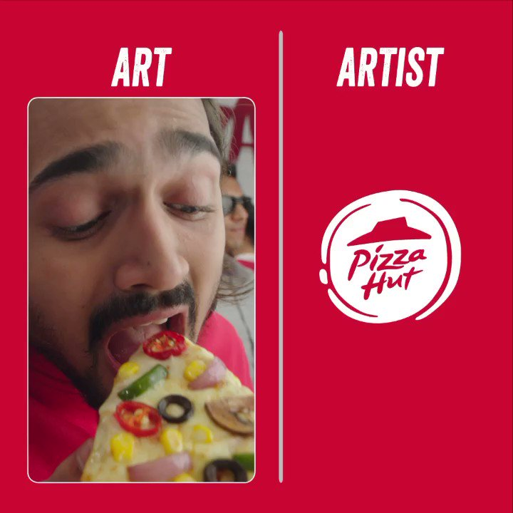 Bring in your heart as we bring you the art artartist pizzahutindia https t.co vCbdldLNVq