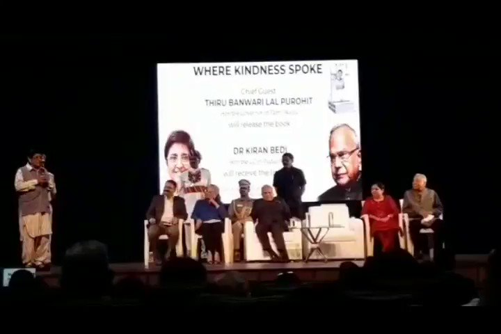 The most amazing words of encouragement from my #mother, #mentor and #inspiration @thekiranbedi mam at the release of #wherekindnessspoke..thku mam..these words of appreciation mean the world to me...will remain your K'pedia forever...lots of #gratitude @LGov_Puducherry