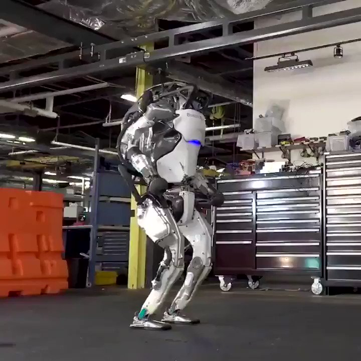 Imagine what machines will be able to do in the next 5-10 years.  Boston Dynamics' machine shows its flawless gymnastic routine. @AndrewYang https://t.co/ZgxrfbhYWe