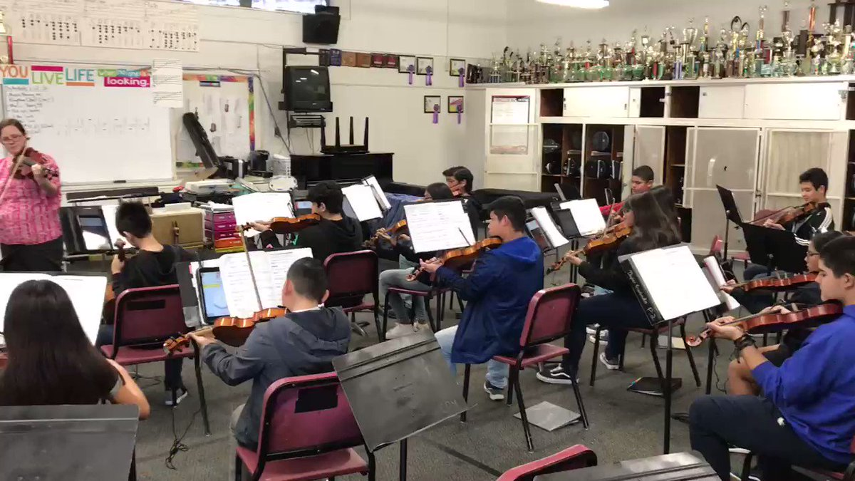 Mentor classroom: beginning orchestra at CPM. Making beauty possible!