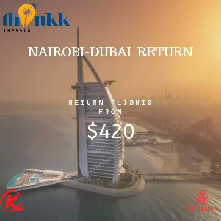 Book your Dubai flight with us starting from $420 and all inclusive accomodation packages starting from $350 PPS for 4nights/5 days inclusive of Visa fee!  Contact us  Info@thinkktravels.com #254travels #dubai #dubaiholiday #holidaypackages #flights #instatravel #2020travelgoalspic.twitter.com/hD5vPZxWLE