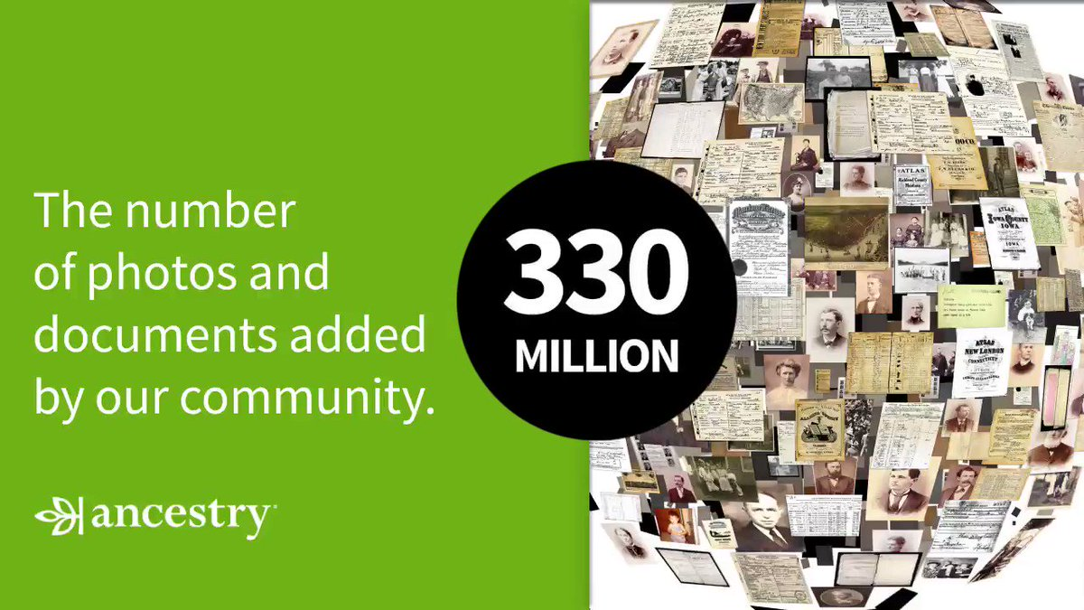 Ancestry® Year in Review! You added 330 million photos and documents.   Which family photos and personal records will you add to Ancestry® this year?