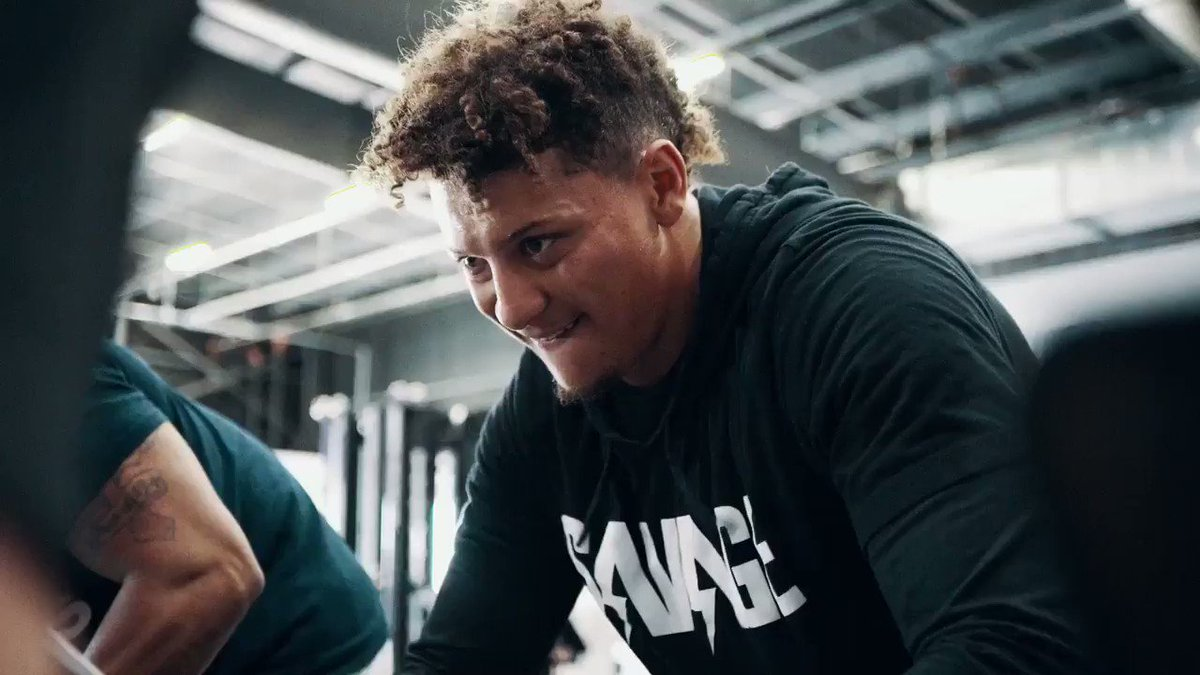 Born to change the game.⁣⁣ Born to be a champion. ⁣⁣ That's Mahomie. 🏆⁣ @PatrickMahomes
