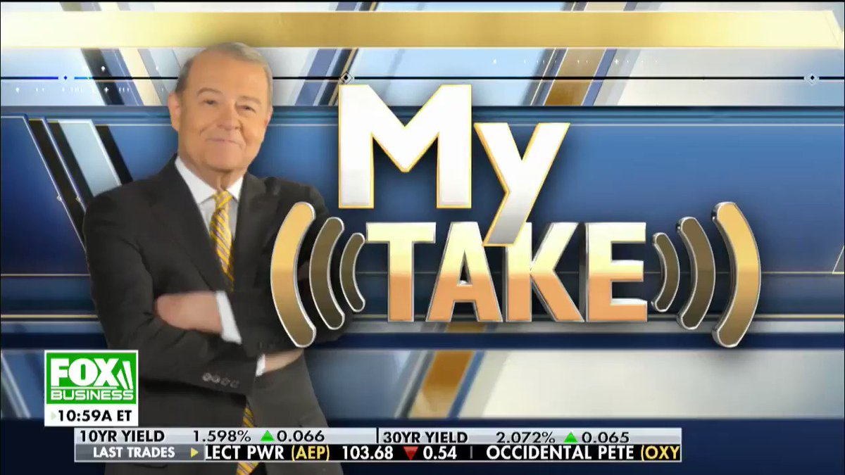 """STU: @realDonaldTrump will report America's extraordinary success and its uplifting future. Watch the President. Watch @SpeakerPelosi. It's going to be quite a show."""" #StateOfTheUnion #MyTake #VarneyCo"""