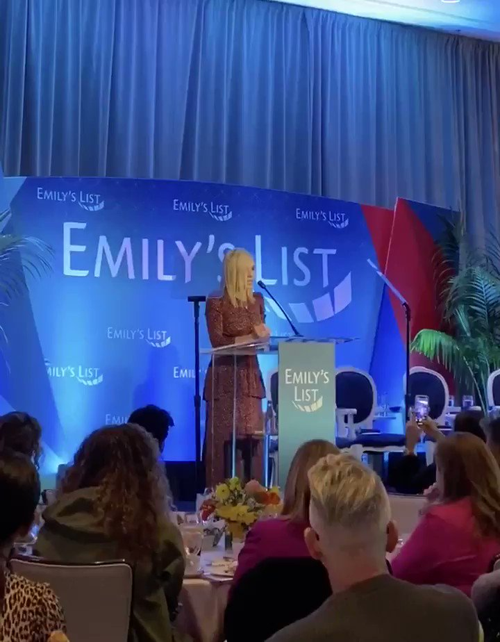 Thrilled to have had the chance to speak at the @emilyslist Oscars event today about defining women's roles and places in 2020. (Spoiler alert: We belong in all of the decision-making rooms.)