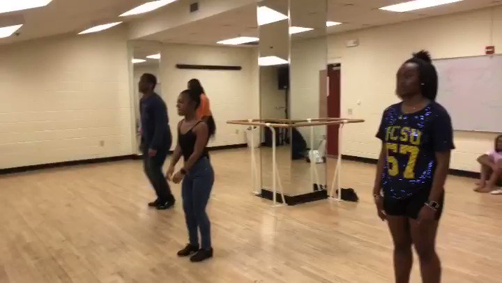 Just a little #taptuesday with some of our Beginning Tap students #jcsudance #johnsoncsmithuniversity #tap #hbcudance