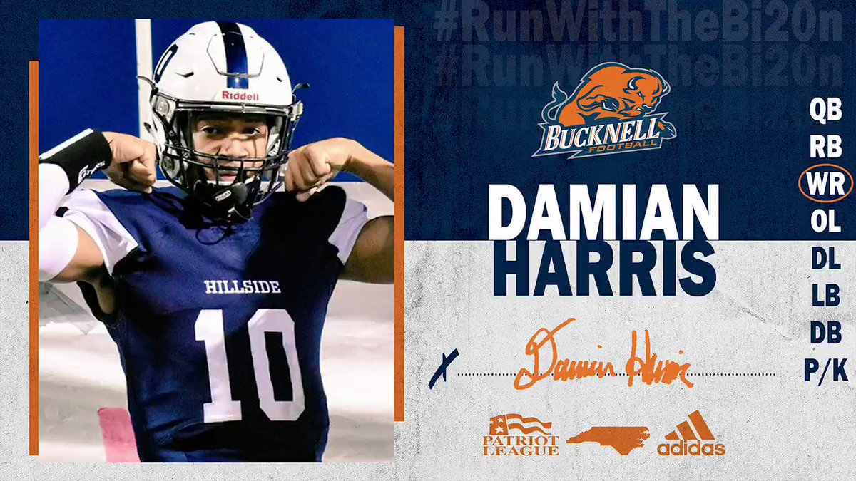 Dynamic Swiss Army Knife. 💥 WR Damian Harris (@dameh_10) has decided to #RunWithTheBI20N! #ACT | #rayBucknell