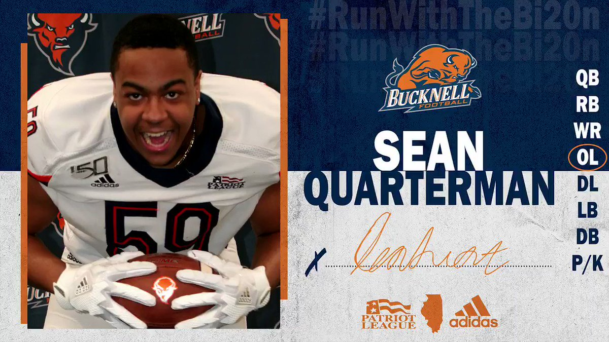 Policing The LOS. 🚨 OL Sean Quarterman (@quartermansean1) has decided to #RunWithTheBI20N! #ACT | #rayBucknell
