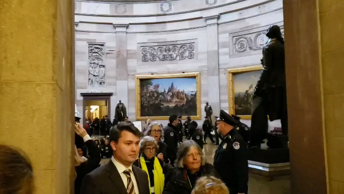 RIGHT NOW: Capitol Police move in to arrest protesters inside the Capitol Rotunda