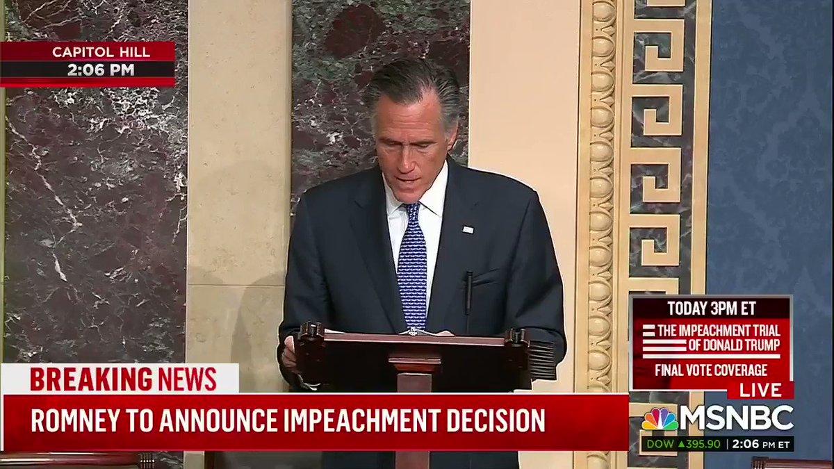 Thank you for upholding the Constitution @SenatorRomney
