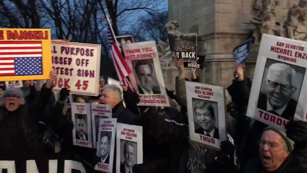 """""""GUILTY! TREASON!"""" Over 1,000 people and building jn NYC."""