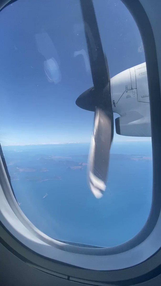 En route to #Blenheim - stunning day to fly over the Marlborough Sounds @FlyAirNZ #marlboroughwineandfood ✈️🌞🥂