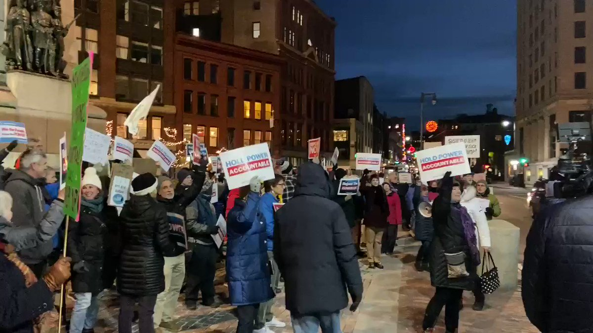 #RejectTheCoverup protest in Maine right now. Susan Collins' career is over.