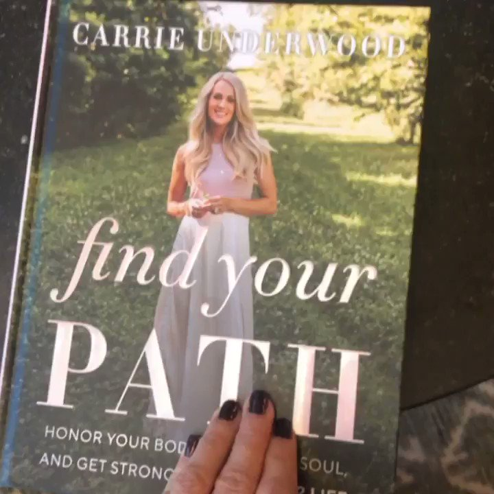 Got my first copy of #FindYourPath! So exciting! #Fit52Lifestyle http://carrieunderwoodofficial.com/findyourpath