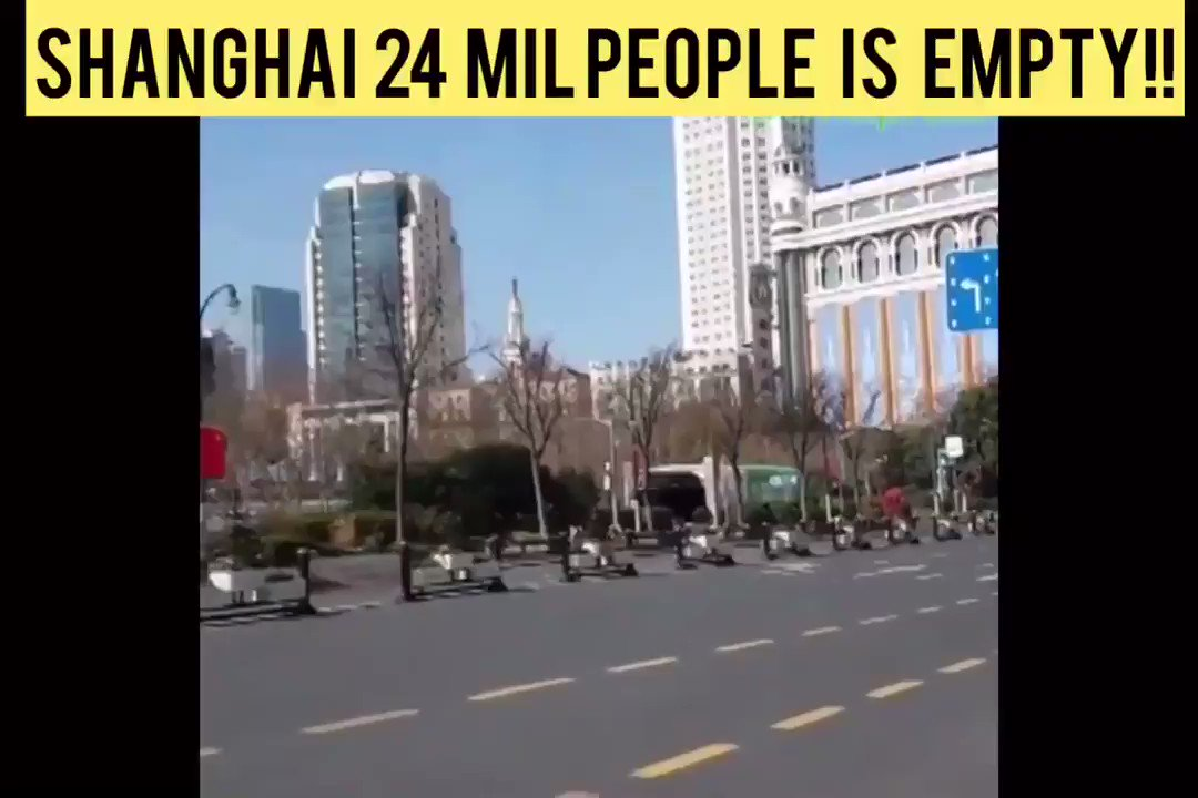 China's 24 million people of Shanghai is almost empty for the fear of the Corona virus!!  #coronaravirus #Corona #CoronavirusOutbreak #ChinaCoronaVirus #Shangai pic.twitter.com/BN4tPhUgmh