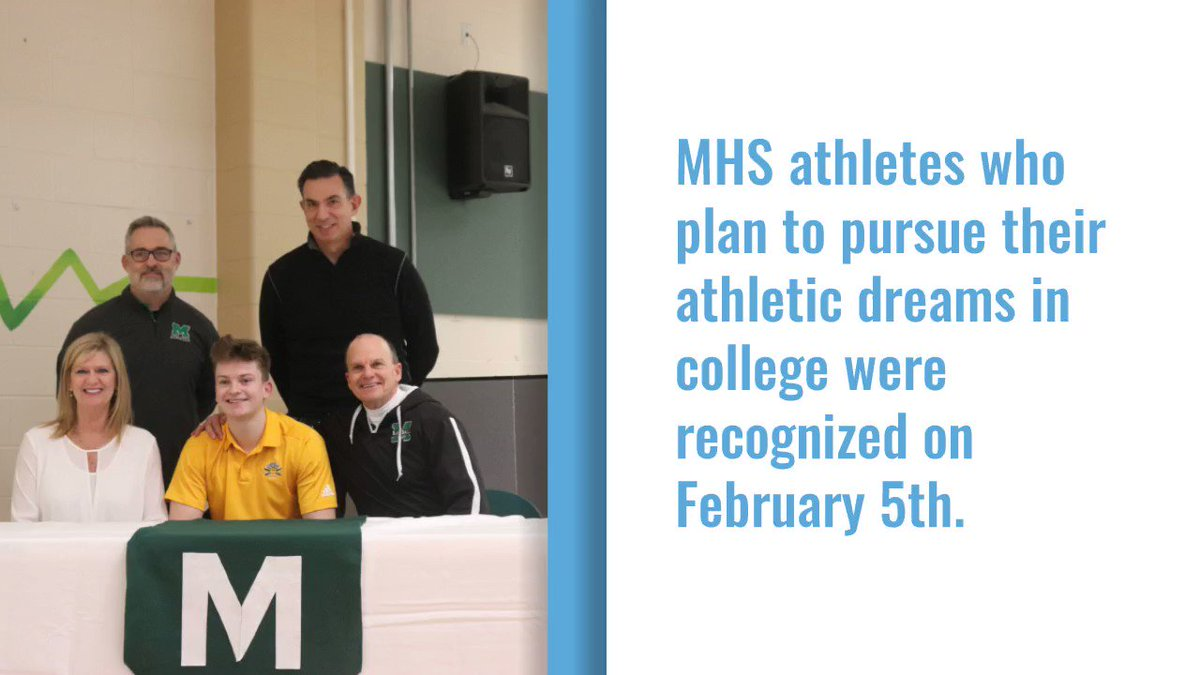 .@MHSComets athletes who plan on playing sports in college were recognized yesterday at MHS. Digital reporter @AlexDeroussel was there and captured these images from the event.
