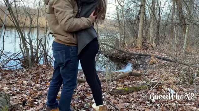 GuessWhoX2 - Small tits teen (中出)creampie at park, risky public outdoor sex almost caught 4K just sold another copy: