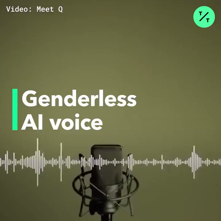 Image for the Tweet beginning: A genderless #AI voice.