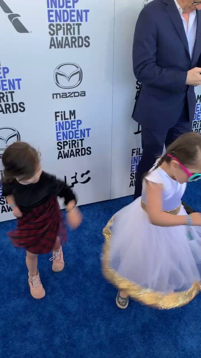 Sometimes a quick twirl is in order. #SpiritAwards