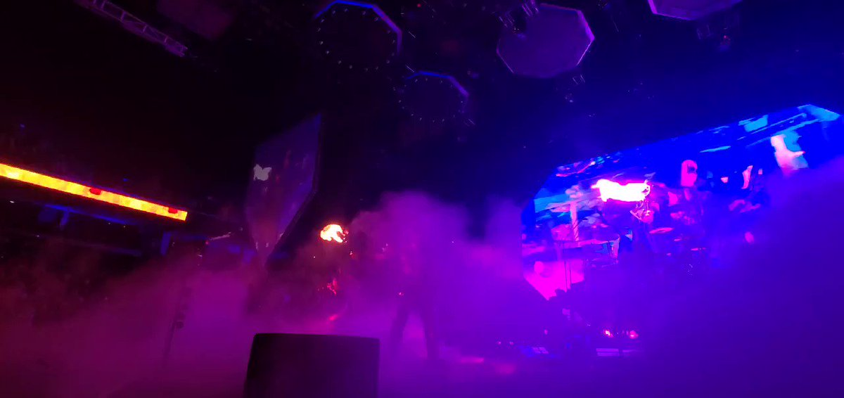 The Demon @genesimmons breathing fire at @Gbocoliseum #Greensboro, NC. #EndOfTheRoad World Tour