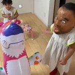 子供がボビーオロゴンのマスクを被った結果?なんか怖い!