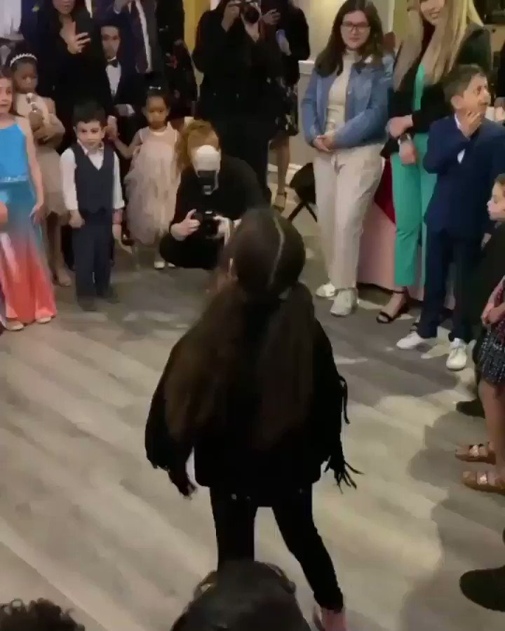 Kanye west and north west at daddy daughter dance